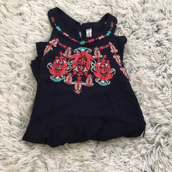 Beautees Other - Girls embroidered romper